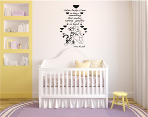 Winnie The Pooh How Lucky Am I Quote And Image Vinyl Wall Art