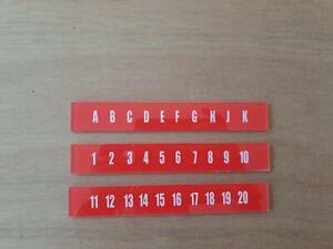 AMI JUKEBOX CONTINENTAL 2 ORANGE AUTOMIX PLASTIC CARD SET