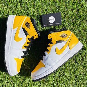 Nike Air Jordan 1 Mid University Gold GS UK 5.5 | EU 38.5 | eBay