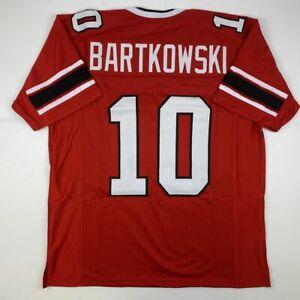 New STEVE BARTKOWSKI Atlanta Red Custom Stitched Football Jersey ...
