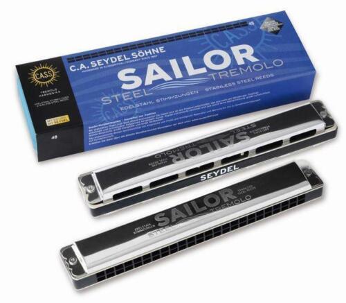 Seydel Sailor Steel A-moll 48 Mundharmonika Tremolo Edelstahl-Stimmzungen
