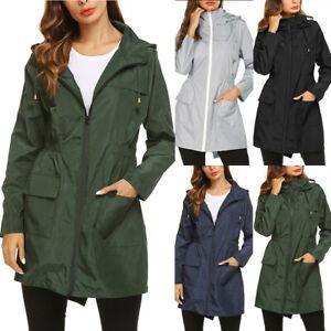 Women-Solid-Rain-Outdoor-Jackets-Waterproof-Hooded-Raincoat-Windproof-Coat-Tops