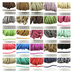 6mm-PLAITED-FAUX-SUEDE-CORD-40-COLOURS-CRAFT-JEWELLERY-MAKING-LEATHER-BRACELET
