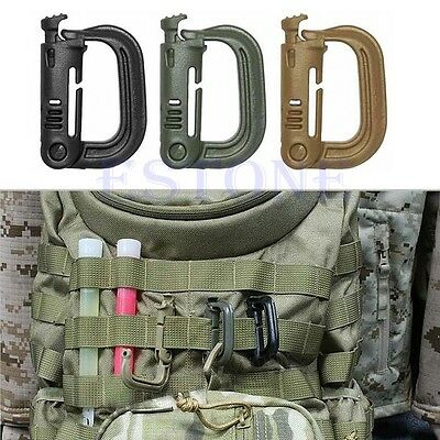 HOT! Outdoor Tactical Backpack Shackle Camping Snap D-Ring Clip KeyRing Locking