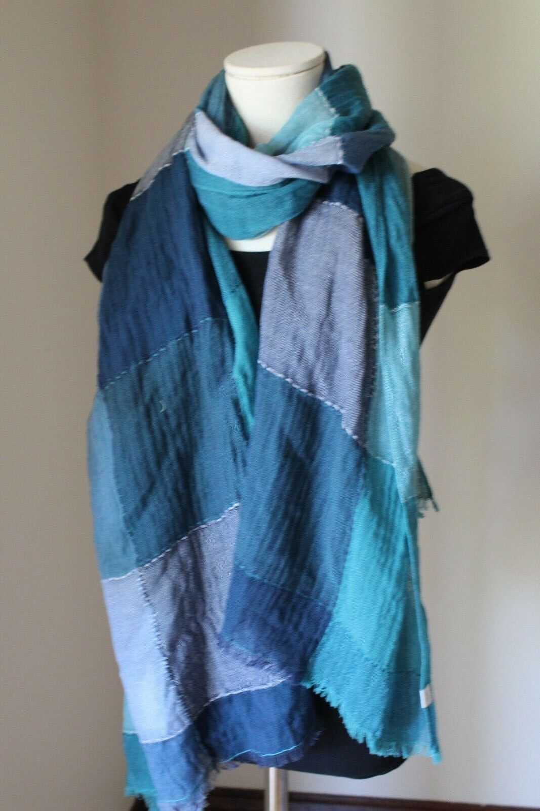 NORDSTROM Women's Caslon® Classic Reversible 100% Wool Green Square Wrap NE