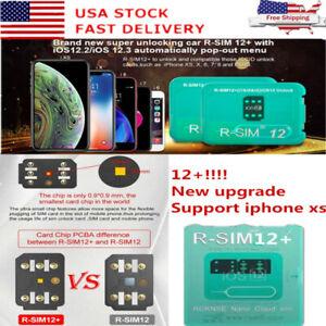 grossiste 0661a 8b07c Détails sur R-SIM12+! New upgrade RSIM Nano Unlock Card for iPhone XS  MAX/XR/XS/8/7/6 4G iOS