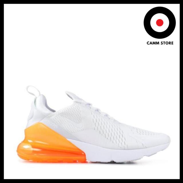 Nike Air Max 270 Running Shoes Scarpe Uomo Donna Bianco Arancio AH8050 102