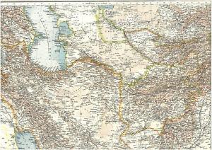 Persien Karte.Details Zu Landkarte Iran Persien 113 Jahre Alt ایران ایران Afghanistan 1906