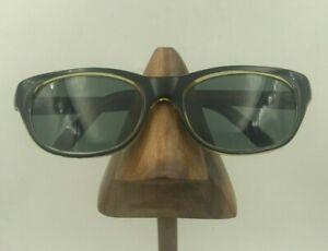 Vintage Black Oval Horn-Rimmed Sunglasses Eyeglasses Frames France