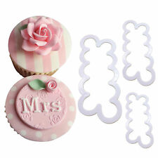 3PCS 3D Rose Flower Fondant Icing Cake Chocolate Mould Cutter Bake Sugarcraft