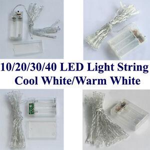 AA-Battery-Power-Mini-10-20-30-40-LEDs-Warm-White-Christmas-String-Fairy-Lights