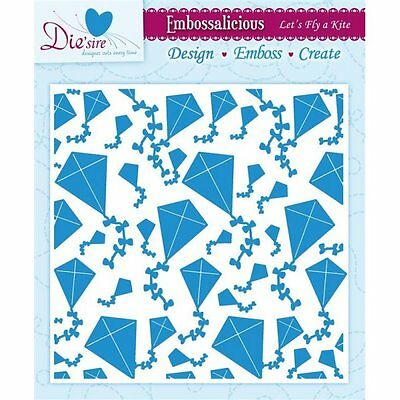 """6/"""" embossing folder Lets Fly a Kite EF6-LFKITE Die/'Sire Embossalicious 6/"""""""