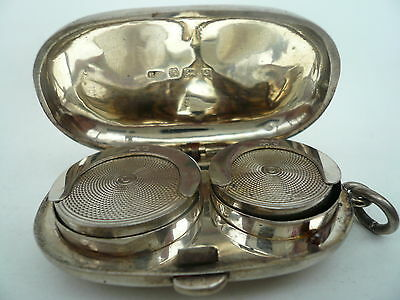 Silver Sovereign Holder, Sterling, Antique, English, Coin Holder Hallmarked 1904