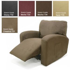 Stretch Suede Mocha Furniture Slipcover Sofa 734