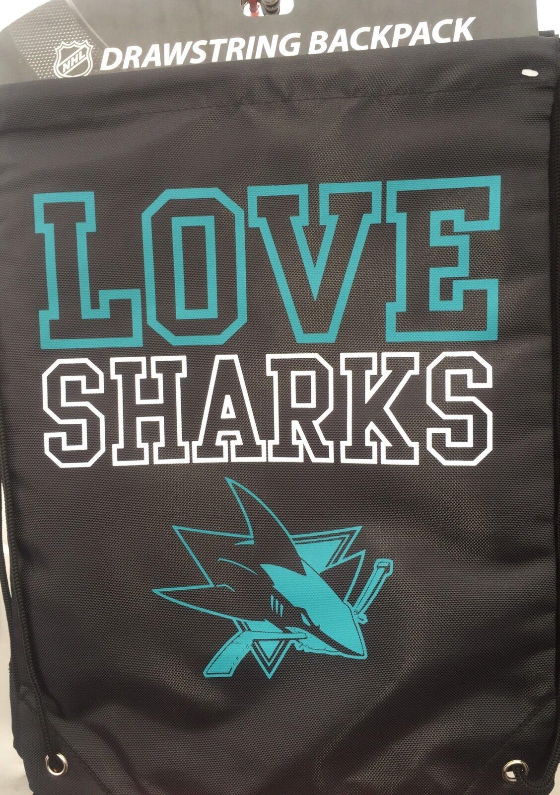 San Jose Sharks Womens Love Drawstring Backpack Ebay Bag Shark Norton Secured Powered By Verisign