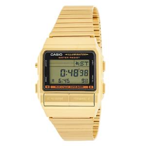 Casio-Men-039-s-DB380G-1DF-Gold-Tone-Stainles-Steel-Quartz-Watch-with-Digital