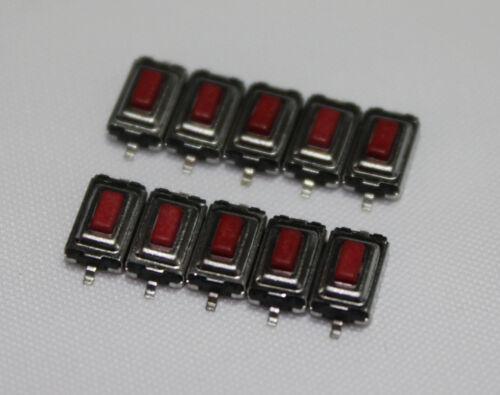 10 SMD Taster 3x6x2.5mm ROT Subminiatur Mikrotaster Drucktaster KFZ Auto Key FB