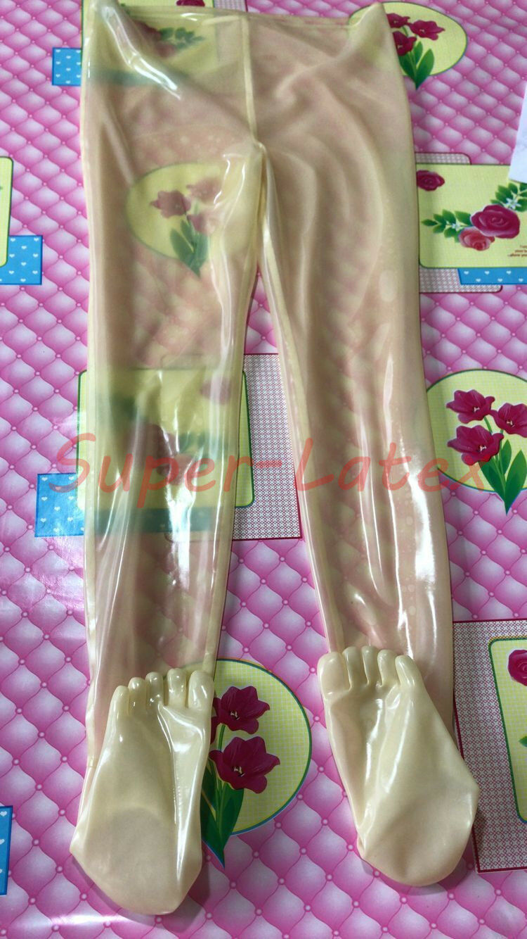 1365 Latex Trousers With Toes Gummi 0.4mm