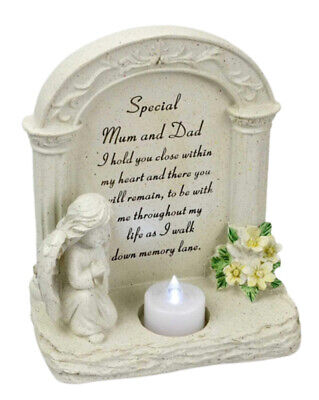 Special Dad Praying Cherub Verse Graveside Tealight Candle Holder Ornament