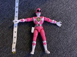 """Vintage 1995 Talking Power Rangers Pink Ranger Kimberly 8"""" figure Bandai"""