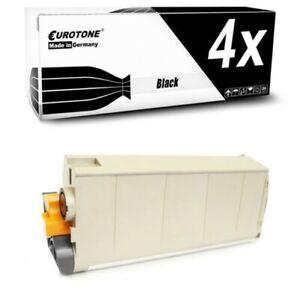 4x Eurotone Toner Black For OKI ES-7411-DN
