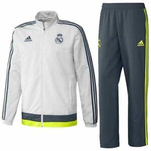 Adidas-Real-Madrid-Praesentationsanzug-Trainingsanzug-Anzug-Suit-Fussball-S-XXL
