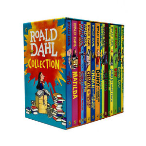 Roald-Dahl-Complete-Collection-Children-Going-Solo-Boy-16-Books-Box-Set-BrandNew
