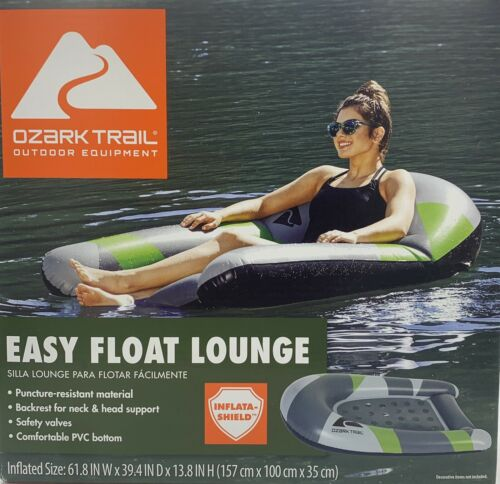 NEW Ozark Trail Easy Float Lounge Inflatable Raft,Comes With A Transparent Mat!