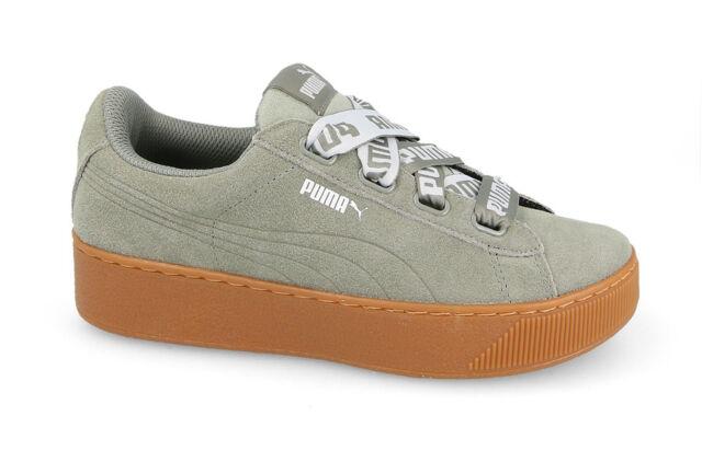 89947fff22cc5f Puma Vikky Platform Ribbon Bold Sneaker Donna Grigio Rock Ridge 37 ...