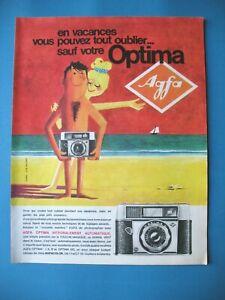 PUBLICITE-DE-PRESSE-AGFA-APPAREIL-PHOTO-OPTIMA-ILLUSTRATION-HUREL-1960