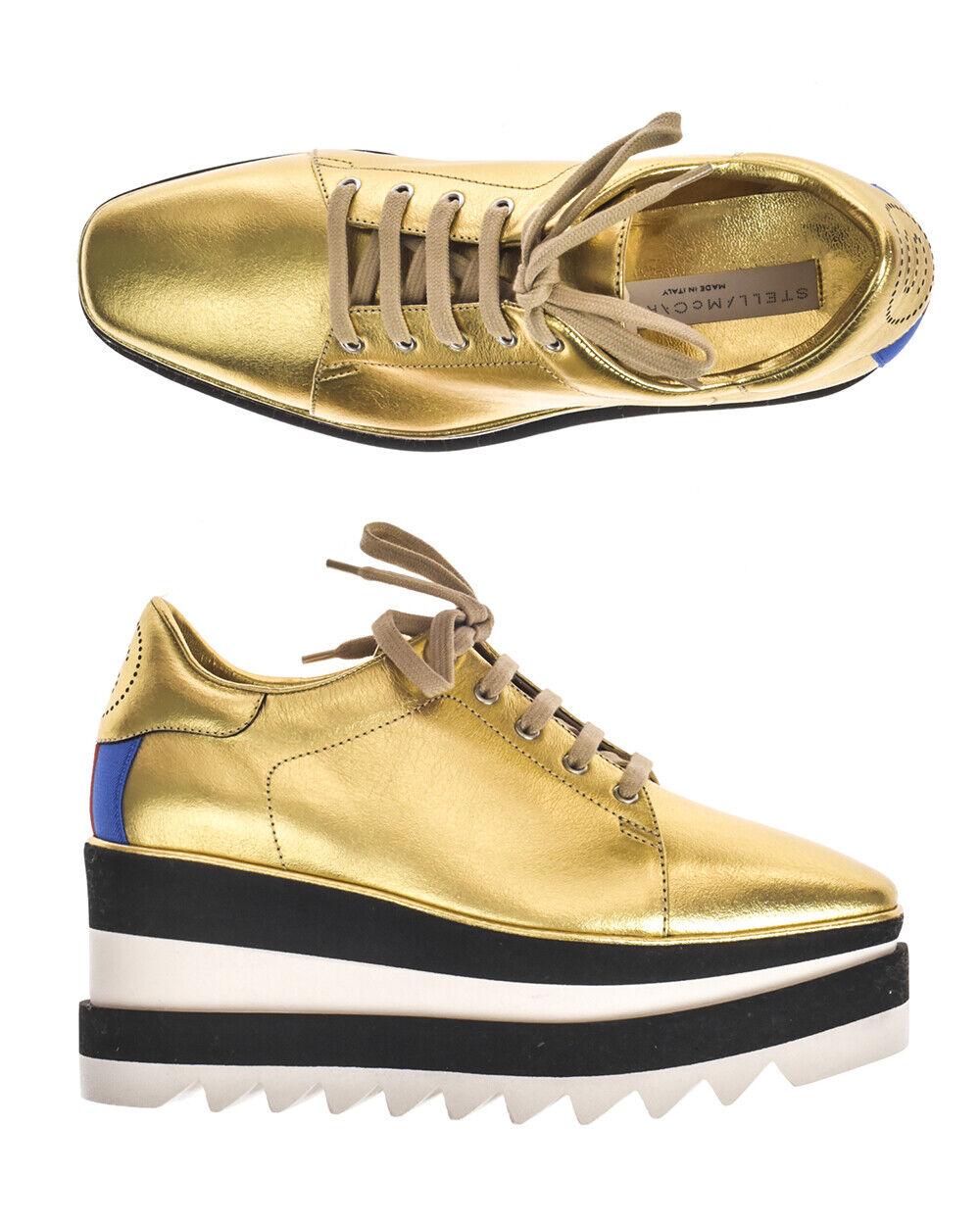 Stella McCartney scarpe scarpe  da ginnastica ELYSE Woman oro 478958W1C3 8095 Sz.37 MAKEOFFER  outlet online
