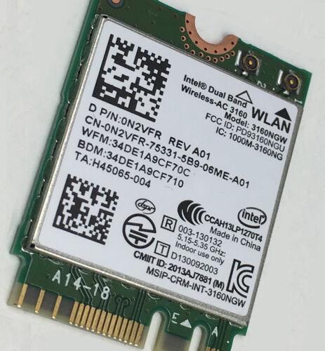 Dell Wireless-AC 3160 Dual Band WLAN WiFi 802.11 Mini-PCI E Card N2VFR 3160NGW