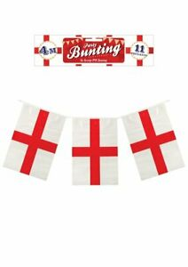 VE-DAY-England-Bunting-8th-May-2020-4m-Long-Team-GB-UK-St-George-Flags-New