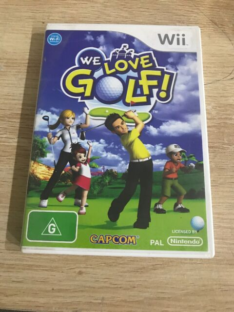 Nintendo Wii Game We Love Golf in Original Package with Guide
