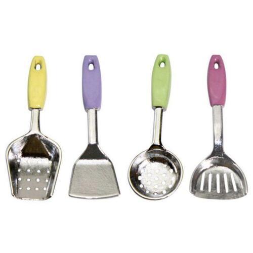 Mini Alloy Cooking Kitchen Tool 1:12 Dollhouse Miniature Spoon Shovel Cookware