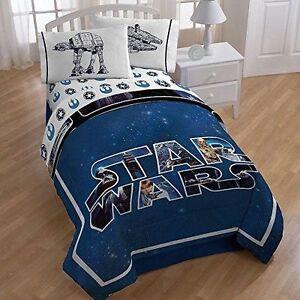 Star Wars Twin Full Disney Reversible Comforter Boy Twin Sheet Set