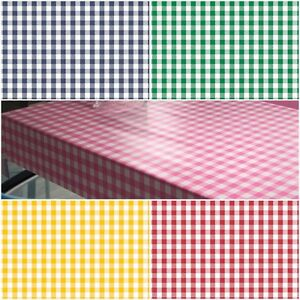 Superieur Image Is Loading Oval Wipe Clean Tablecloth Oilcloth Vinyl PVC Gingham