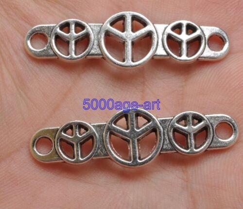 20pcs Tibetan Silver Charm hollow peace Connectors fit bracelet 39mm  A3396