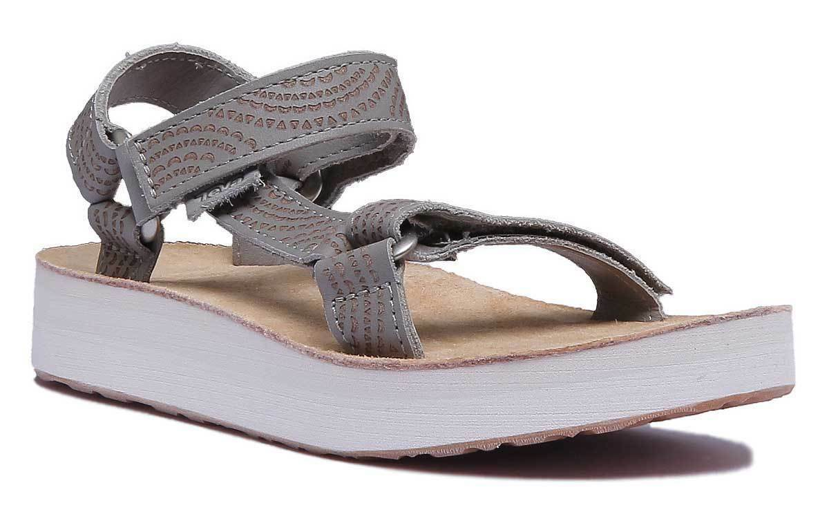 Teva Midform Universal Women Other Fabric Sage White Strappy Sandals Size 3 - 8