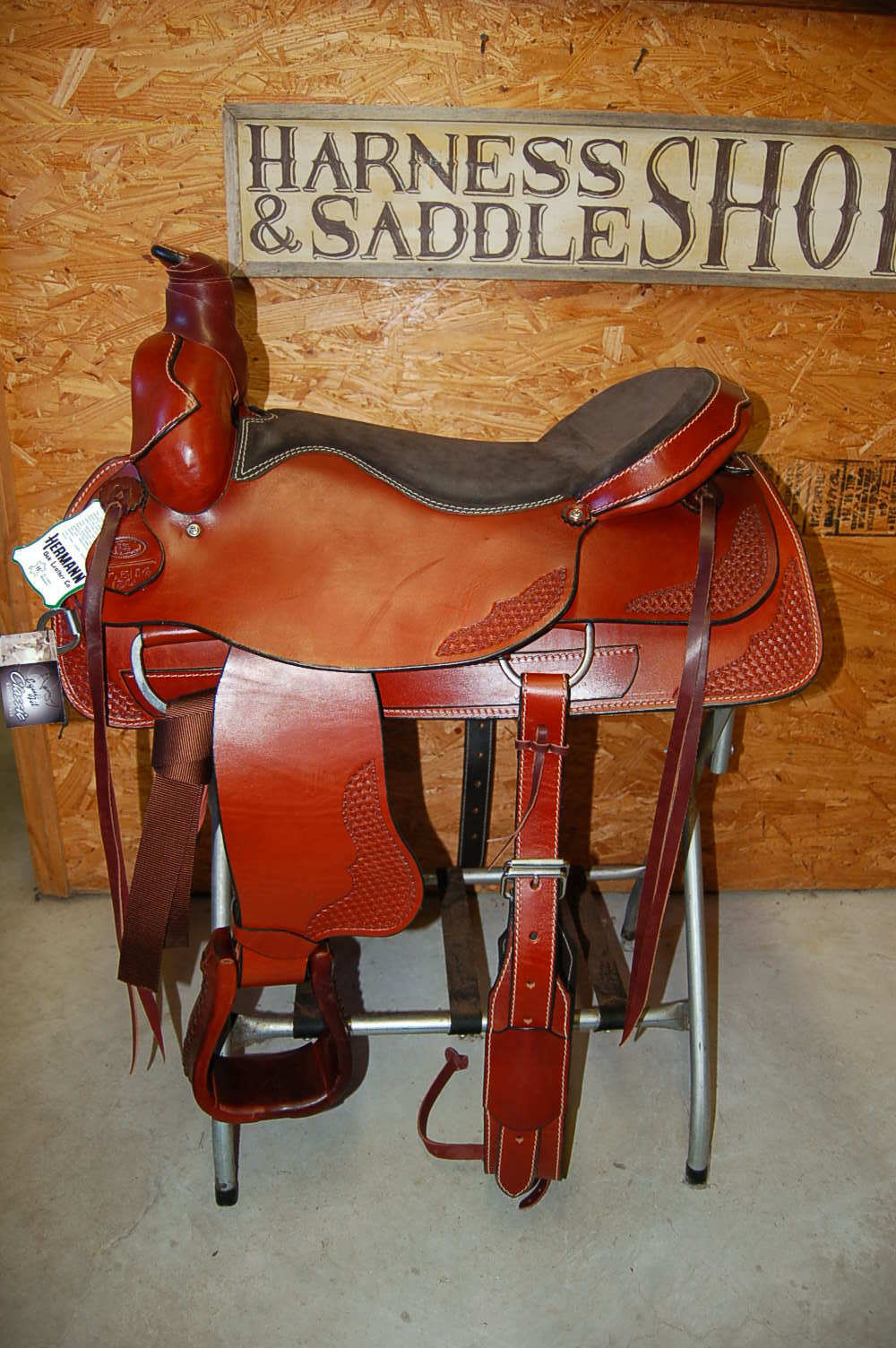 20  G.W. CRATE DRAFT ROPING RANCH SADDLE MADE IN ALABAMA FREE SHIP ROPER TRAIL