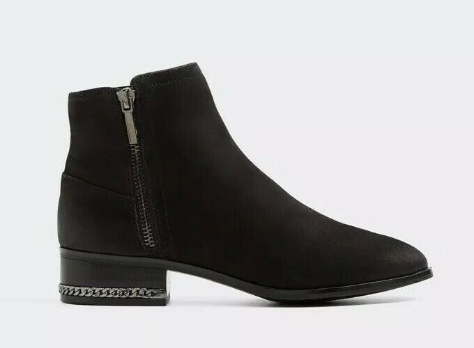 Aldo Womens Adryssa Black Ankle Boots Uk5