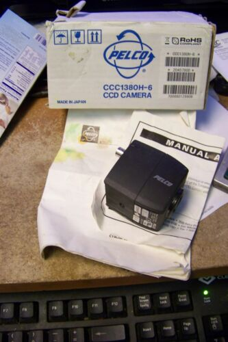 "480 TV Lines Pelco CCC1380H6 1//3/"" Color CCD Camera Compact Accepts CS l"