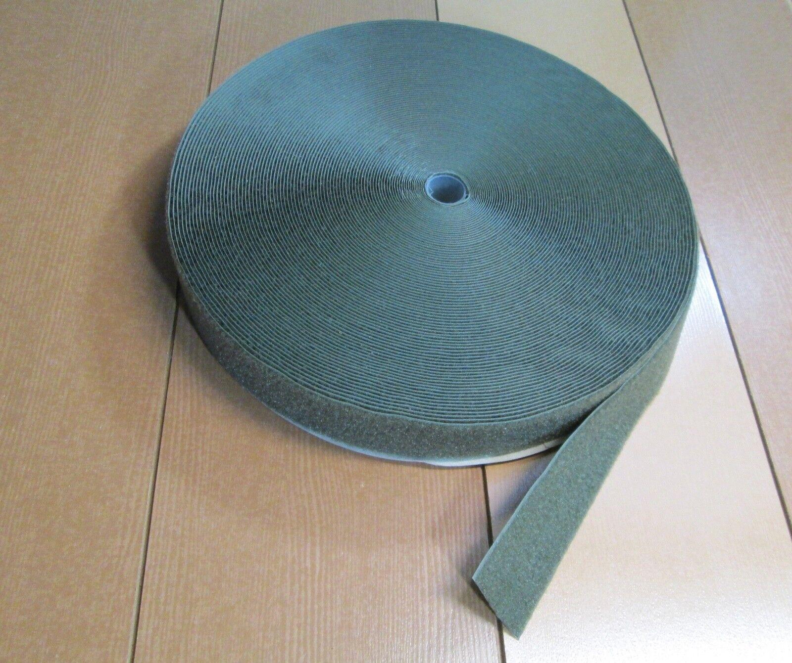 Olive Green Military 50 Yrd Roll Sew-on LOOP ONLY - Hook & Loop 2  Fastener