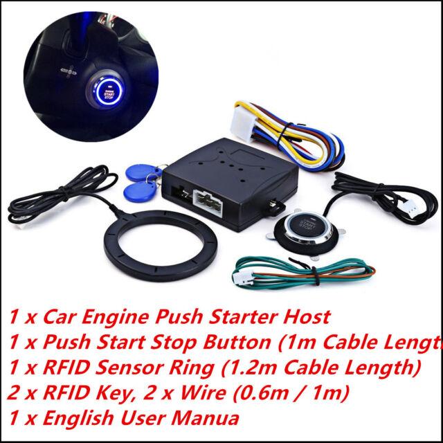 Car Engine Push Start Button RFID Lock Ignition Starter Keyless Entry Start Stop