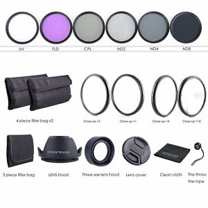 67MM-Lens-Filter-Kit-Macro-Close-Up-Set-amp-UV-CPL-FLD-w-Pouch-for-Nikon-Canon