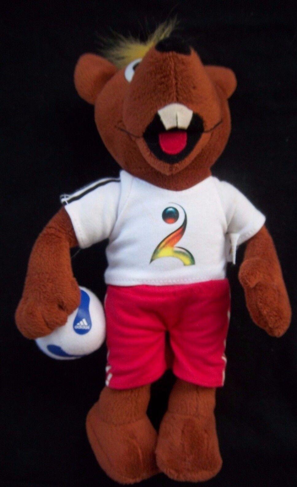 Orig. Peluche Mascota balonmano Campeonato del Mundo de Alemania 2007 - 28 cm    Raro