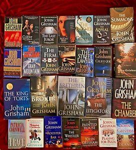 Gigantic-John-Grisham-Lot-of-25-Books-with-Free-Shipping