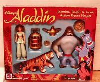 1992 Disney Aladdin - Jasmine, Rajah, & Genie playset (Mattel #5303) New -MISB