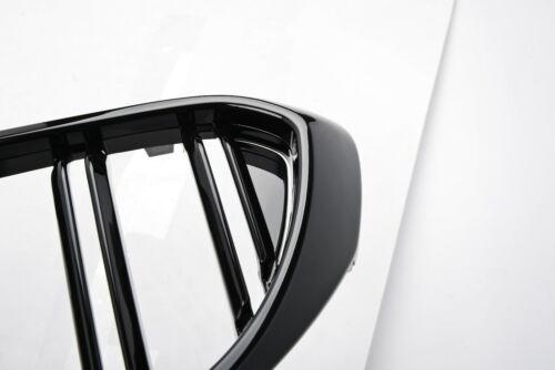 noir brillant double lamelles Berline//Berline//Break M5//M6 LOOK GRILLES BMW 5 2017+ G30//G31