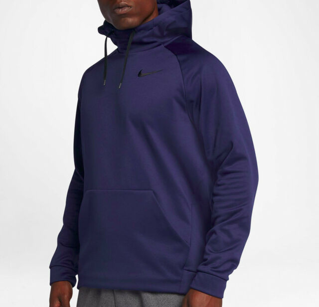 61aed1ab6629 Nike Therma Hoodie Training PO Mens Size Medium 826671-429 Navy Dri ...